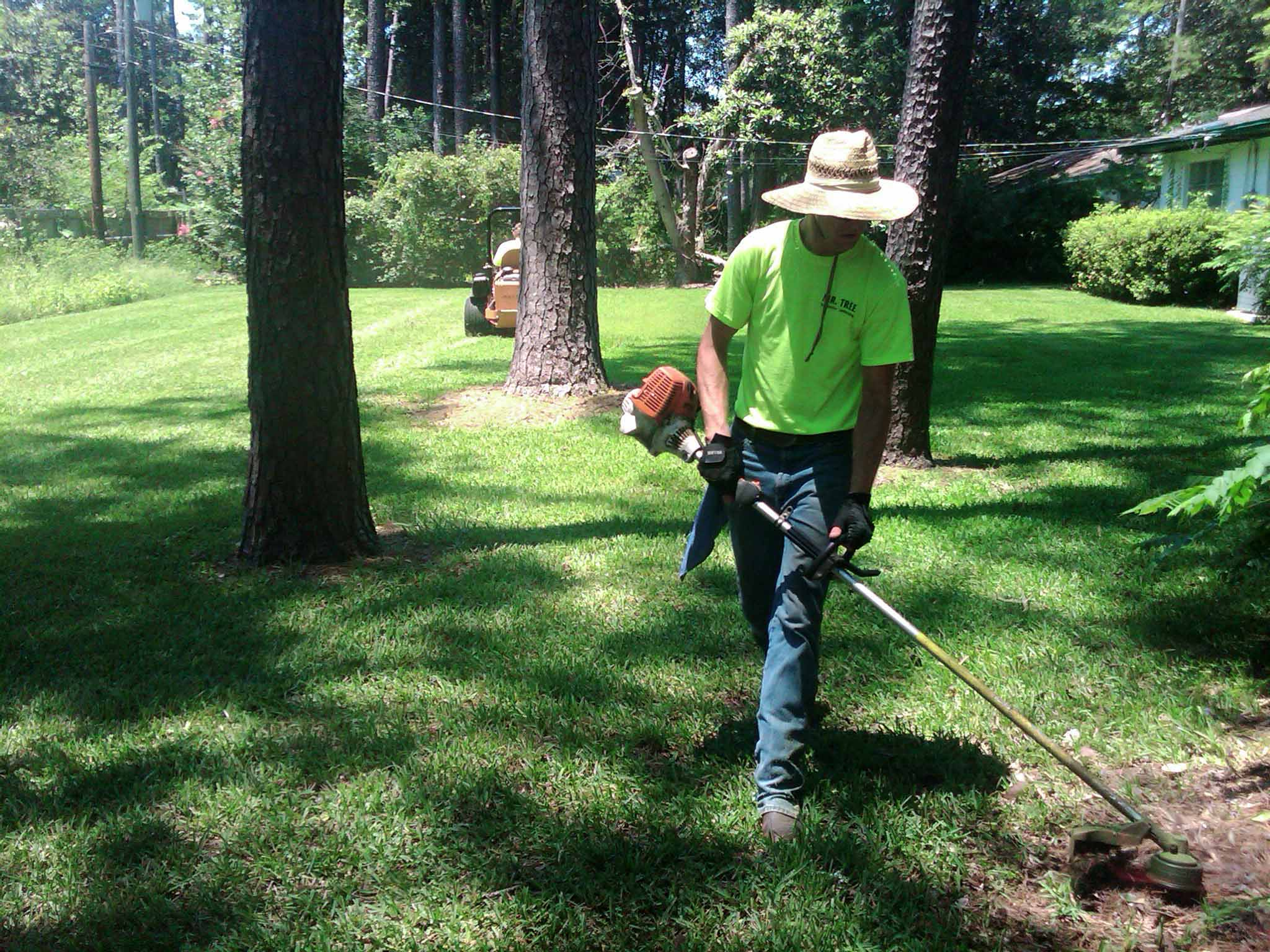 Lawn care gainesville fl mowing pruning mulching lawn for Lawn and garden services